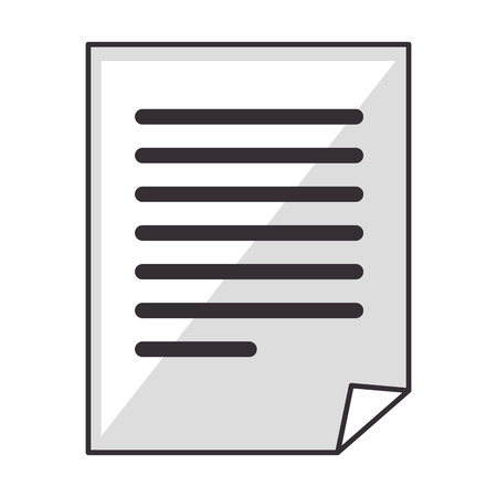 file document icon over white background vector illustration