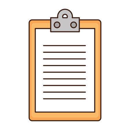 Bericht Tabelle Symbol auf weißem Hintergrund Vektor-Illustration Standard-Bild - 84524328