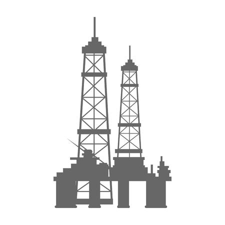 industrial factory icon over white background vector illustration Ilustração