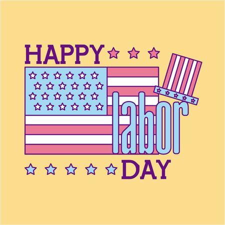 happy labor day icon vector illustration design graphic
