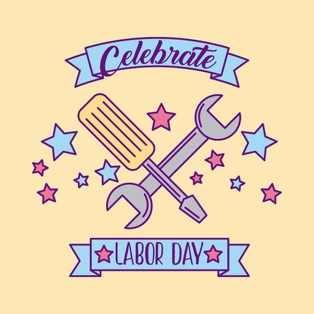 celebrate labor day vector icon illustration design graphic