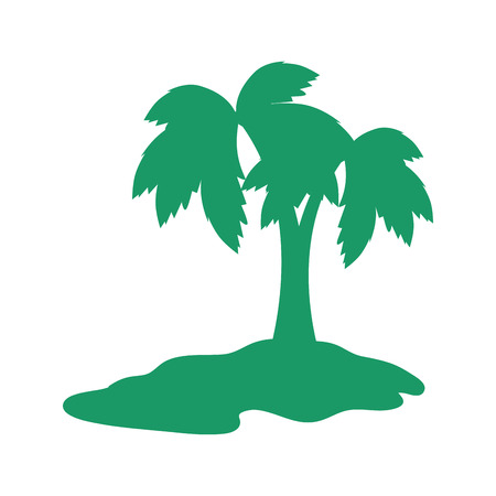 tropical palm icon over white background vector illustration Stock Vector - 84524523