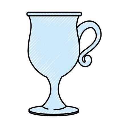 Glass cup isolated Vector ilustration Icon symbols Illusztráció