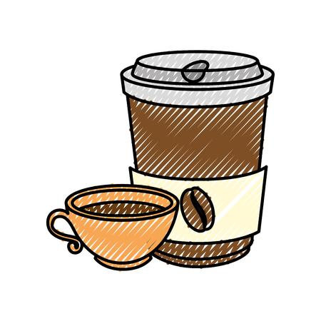 ilustration: Coffee to go Vector ilustration Icon symbols
