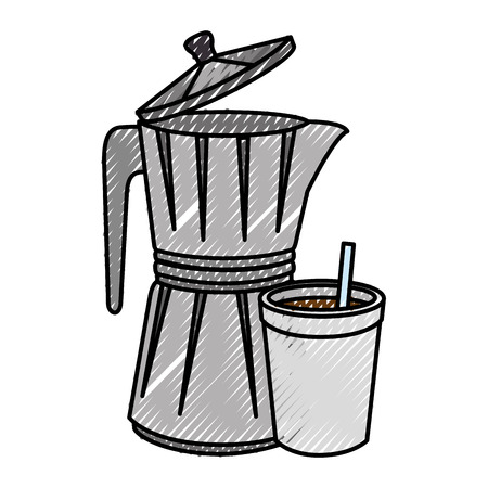 modern kitchen: Kettle kitchenware utensil Vector ilustration Icon symbols Illustration