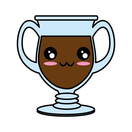 Glass cup isolated   cute cartoon Vector illustration 向量圖像