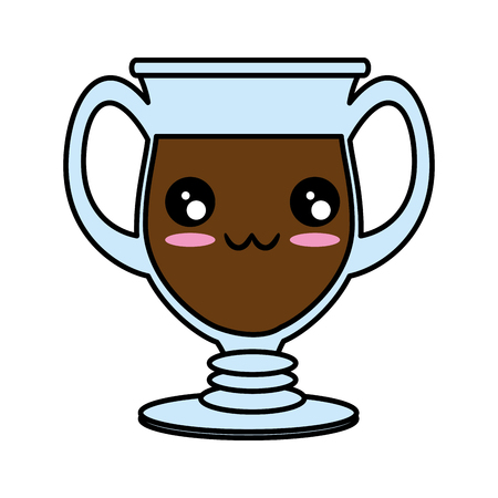 Glass cup isolated   cute cartoon Vector illustration Illustration