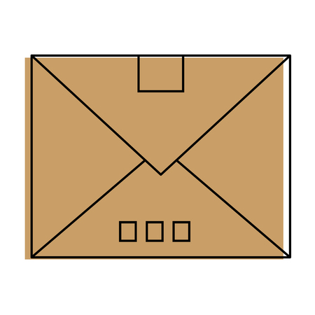 Mail or email symbol icon vector illustration graphic
