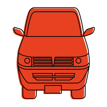 Delivery truck vehicle icon vector illustration graphic
