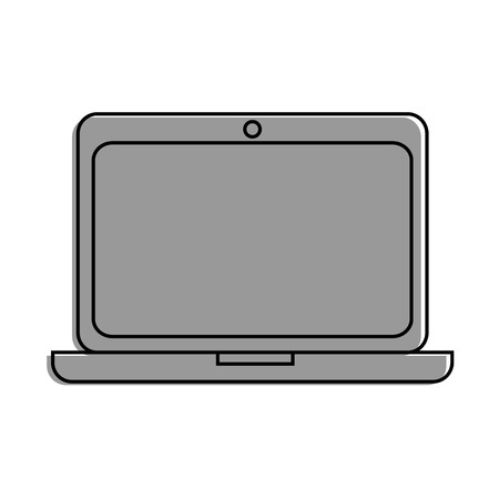 laptop computer icon over white background vector illustration Ilustrace