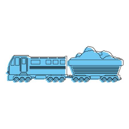 train icon over white background vector illustration Ilustrace