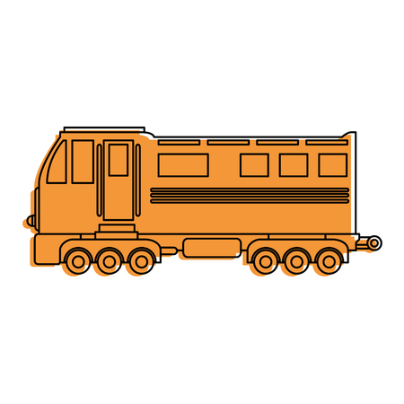 freight train: train icon over white background vector illustration Illustration