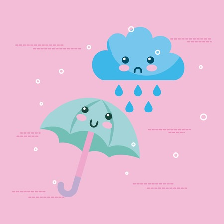 Climate objects cartoon icon vector illustration design graphic