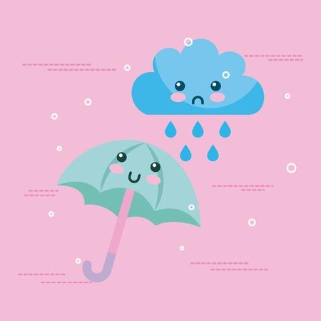 Klimaat objecten cartoon icoon vector illustratie ontwerp afbeelding