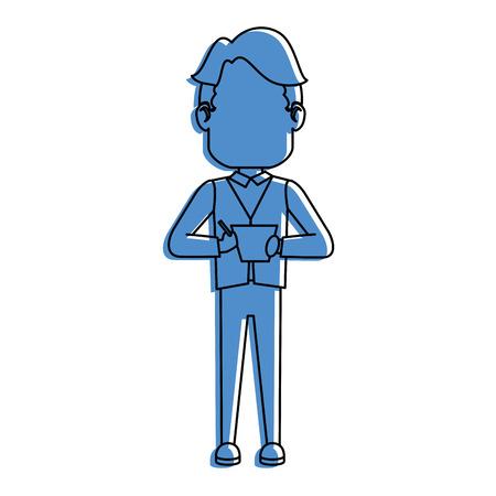 man icon over white background vector illustration Reklamní fotografie - 84525285