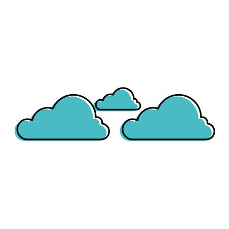 구름 날씨 기호 아이콘 벡터 일러스트 레이 션 그래픽 디자인 일러스트