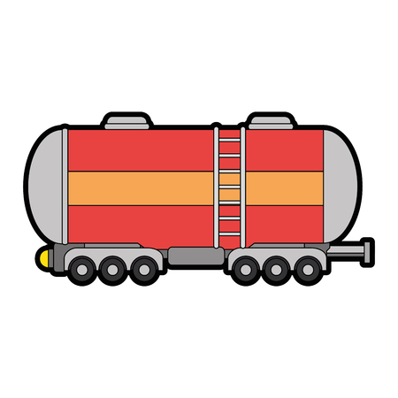 cargo tank icon over white background vector illustration