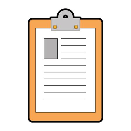 Rapport tabelpictogram over witte achtergrond vectorillustratie Stockfoto - 84525830