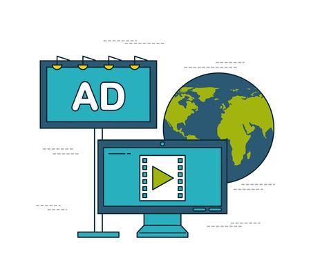 digital marketing images icon vector illustration design graphic Banco de Imagens - 84525831