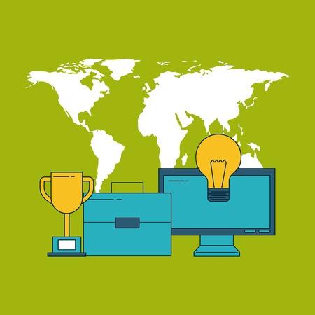 digital marketing images icon vector illustration design graphic Banco de Imagens - 84526703