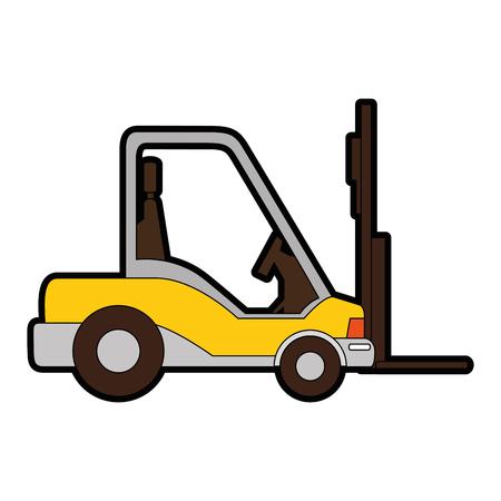 Icône de camion chariot élévateur sur illustration vectorielle fond blanc Banque d'images - 84527412