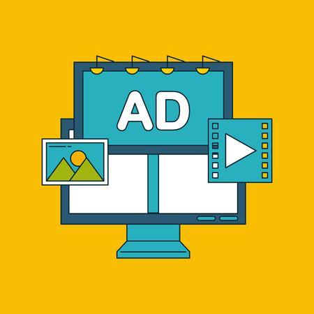 디지털 마케팅 이미지 아이콘 벡터 일러스트 디자인 그래픽