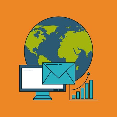 Digital marketing icona icona illustrazione vettoriale illustrazione grafica Archivio Fotografico - 84527414