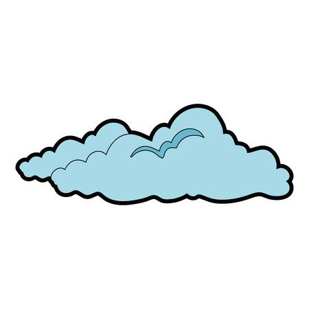cloud weather symbol icon vector illustration graphic design Ilustração