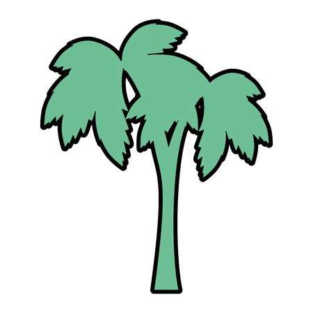 tropical palm icon over white background vector illustration Illustration