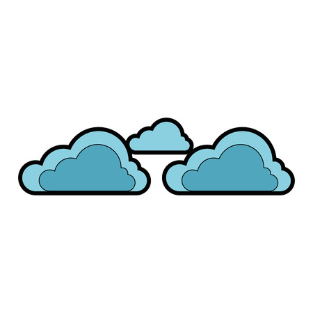 cloud weather symbol icon vector illustration graphic design Ilustração