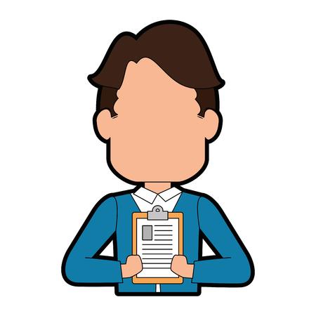 man icon over white background vector illustration