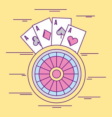 カジノ賭ける写真漫画のアイコン ベクトル イラスト デザイン グラフィック