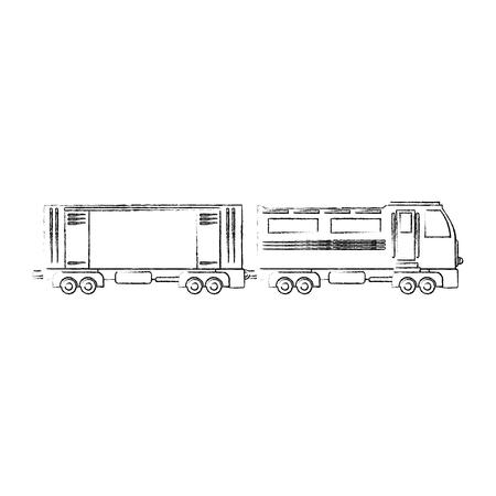 train icon over white background vector illustration Stock Vector - 84527820