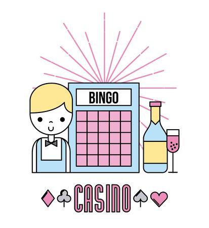 Casino bets open icon vector illustration design graphic