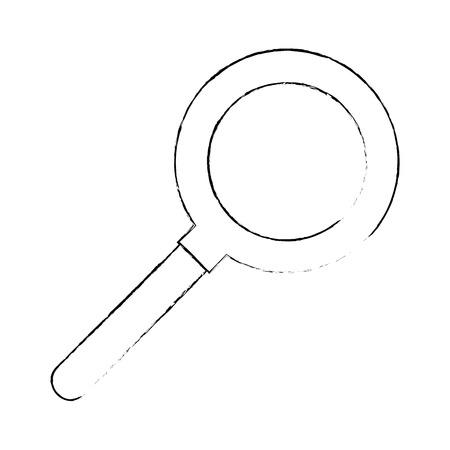흰색 배경 벡터 일러스트 레이 션 위에 돋보기 아이콘 일러스트