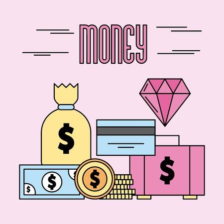 Casino betting pictures cartoon icon vector illustration design graphic