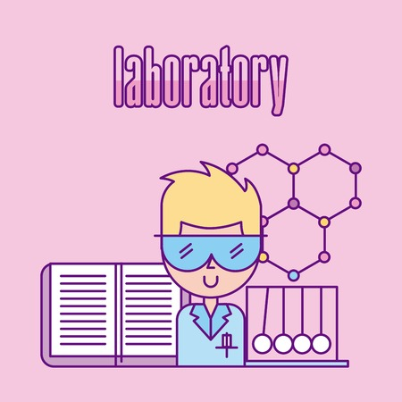 laboratory scientific examinations icon vector illustration design graphic Illustration