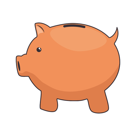 Piggy money savings icon vector illustration graphic design