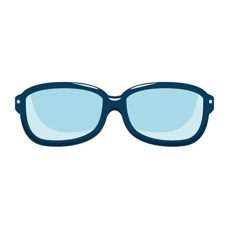 Ontwerp van de het pictogram het vectorillustratie van de glazen optische lens