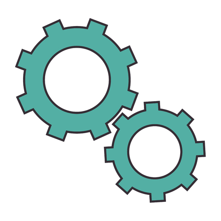 Gears machinery pieces icon vector illustration graphic design 向量圖像
