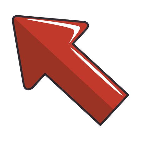 Arrow pointing up icon vector illustration graphic design Illustration