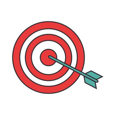 Doel dartbord symbool pictogram vector illustratie grafisch ontwerp Stock Illustratie
