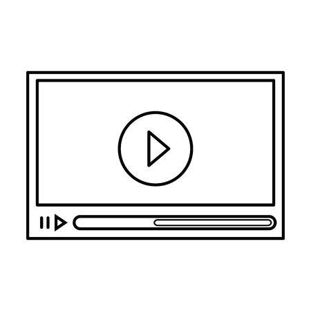 Media video player icon vector illustration graphic design Ilustração
