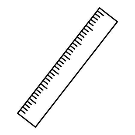 Règle outil de mesure icône vecteur illustration graphique Banque d'images - 84528268