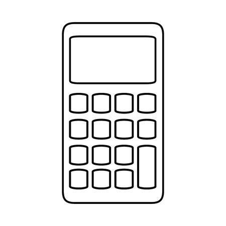 Calculator math device icon vector illustration graphic design Ilustração