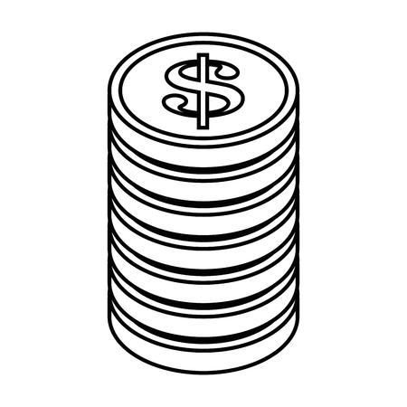 동전 아이콘 벡터 일러스트 그래픽 디자인 쌓여 스톡 콘텐츠 - 84528326