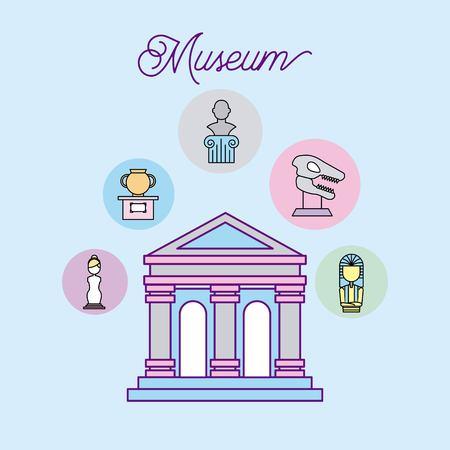 history museum advertising icon vector illustration design graphic Illustration