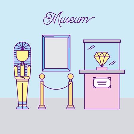 history museum advertising icon vector illustration design graphic Иллюстрация