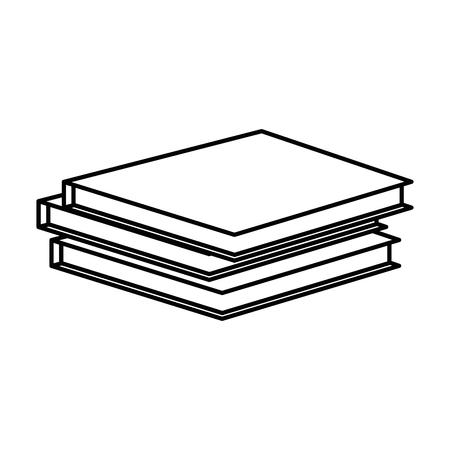 책 아이콘 벡터 일러스트 그래픽 디자인 쌓여 스톡 콘텐츠 - 84528357