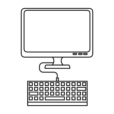Computer screen technology icon vector illustration graphic design